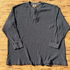 Foundry 4XLT Big Tall Henley Thermal Shirt